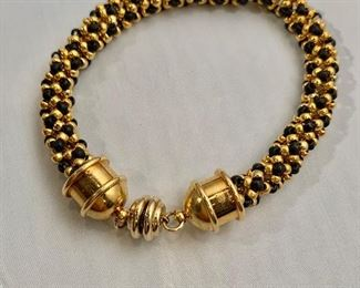 """$20 -9""""L - woven metal bracelet with magnetic clasp"""