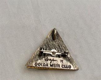 "$20 Detail; Back view. Yaacov Agam, 1979, Golda Meir Club Star of David pendant/pin. 1.5"""