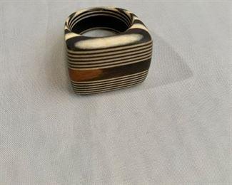 "$30  Wood ring.  Top approx. 1""L x .75""W"