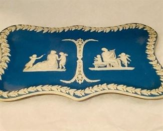 """Japerware tray - $65; Approx 10"""" x 7 inches; unmarked"""