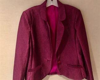 $30 - Vintage cranberry short jacket - estimated size small.
