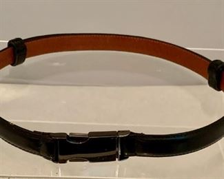 """$30 Made in Florence adjustable leather belt - $30; 3/4"""" fine Italian leather with metal buckle; 34"""" maximum size"""