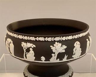 "Black Wedgwood Jasperware bowl - $45; 8"" diameter, 5"" high"