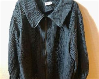 "$40 - Louis Simon for La ""Libellule""black zippered jacket. Estimated size XL/XXL."