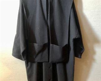 $50 - Hino & Malee vintage black cotton coat. Estimated size L