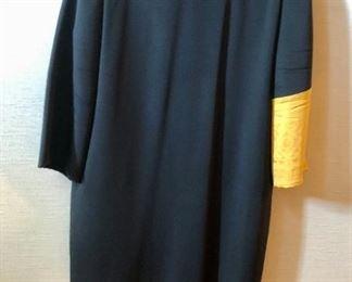 $30 - Mark Heister black dress with gold embellished sleeve. Size L