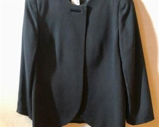 $80 -David Hayes black jacket. New with tag. Button missing. Size 16