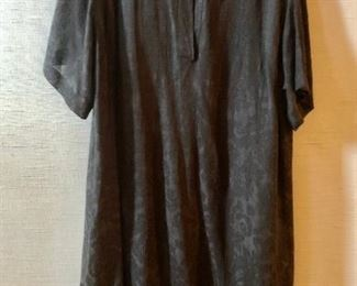 $30 - Marina Basic chocolate brown sheer overdress with slip. Made in Italy. Estimated size XL