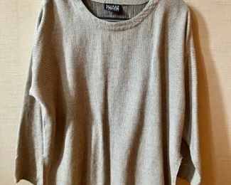 $30 - Eileen Fisher tan and black tweed shirt. Eileen Fisher Size 2.