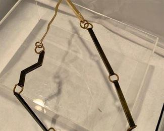 $90 Sculptural metal necklace
