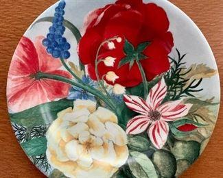 """$250 - Set of 12 Gien Volupte plates. 8.5""""D"""