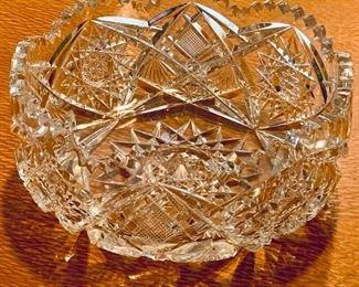 "$50 - Cut crystal serving bowl. 8.75""D x 4""H"