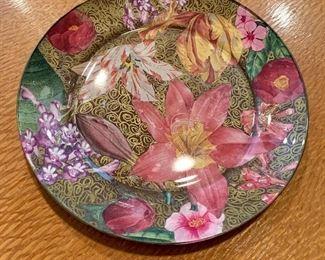 "$30 - Jered Holmes '91 decorative, decopage plate. 8""D"