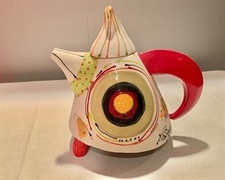 """$75 Teapot by Christiane Paquin (Montreal, 1955-2017) 10"""" W x 9"""" H"""