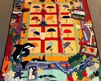 $150. Original fabric art