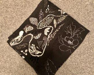 $150 - wool and silk printed scarf