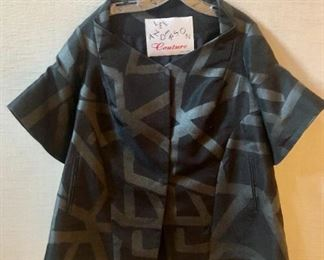 $160 Lee Anderson Couture snap front black cocktail jacket. Size S