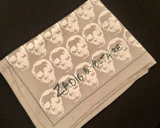 $75 Zadig & Voltaire khaki and tan scarf