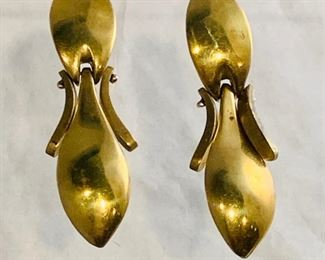 Dennis Higgins clip back earrings - $75; approx 2.5in drop