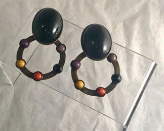 """$75 - clip earrings. Made in Italy. 3.25""""L"""