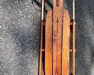 $50 Vintage Flexible Flyer No. 55J wood sled