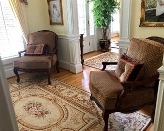 Matching upholstered chairs