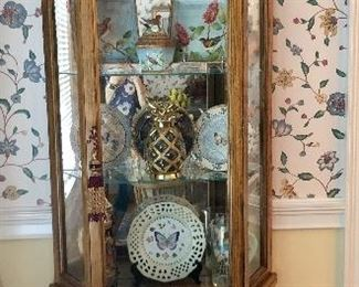Curio cabinet with nice smalls