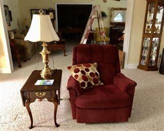 La-Z-Boy chair and drop leaf side table
