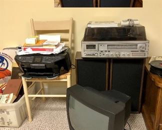 Sears Stereo system with turntable and 8 track, Epson Stylus printer RX595, Zenith TV