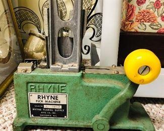 Rhyne Pick machine, floral stemming tool