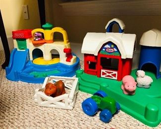 Little Tikes Build and Play Farm Set and Fisher Price toys