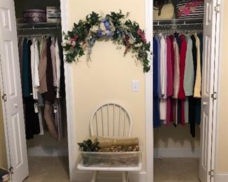 Beautiful clothes in these closets