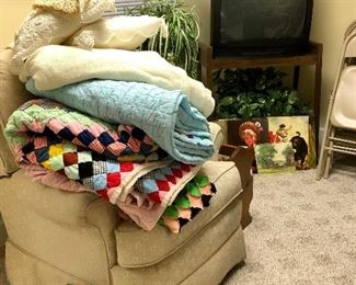 Sorting through the quilts...