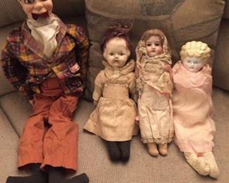 Antique dolls.