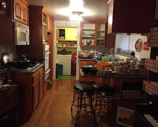 Packed kitchen