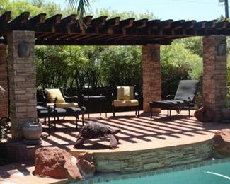 back yard cabana