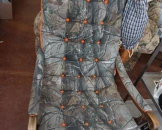 1 of 2 cammo chairs
