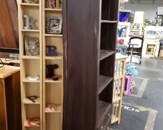 """Pottery Barn/Pier 1 Imports style Shabby Chic Espresso stained solid wood bookcase with under drawers 26.5""""W x 15""""D x 71""""H $195"""