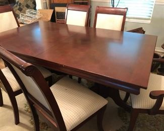 """11. Dining Table with 6 chairs  70""""L (leaf adds 1') 42""""W x 30""""H   $399"""