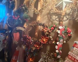 Wall of Wreaths for Every Occasion