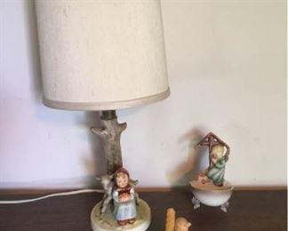 013D Goebel Hummel Lamp Figurines