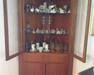 002D Skovby MCM Corner Cupboard display case