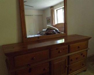 dresser w/mirror - matches bed