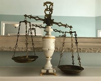 $195 / Giuliani Creations brass and marble scale