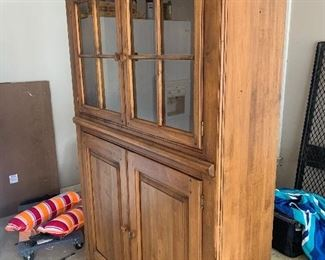 $525 / Virginia House Country Cupboard. Excellent condition. Lights up inside. 75Hx15Dx49L