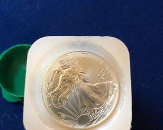 Roll of Silver dollars
