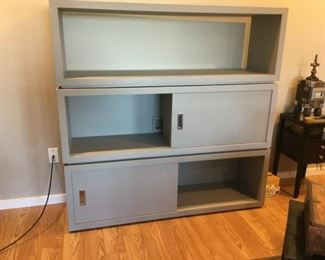 Showing inside cabinet doors (they are partitioned).