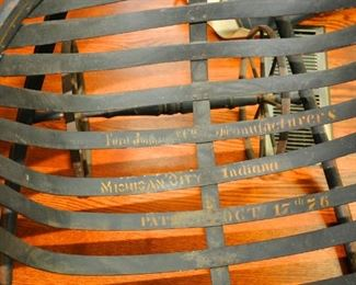 Rare: Antique Slave  Field Cradle ~ Stenciled on the inside: Ford Johnson & Co manufactures / Michigan City Indiana ~ Patented Oct 17,  1876
