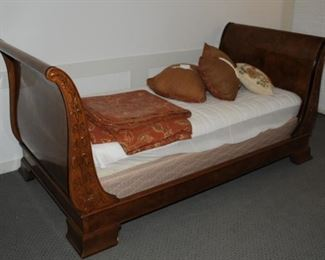 Antique Empire Mahogany Sleigh Bed