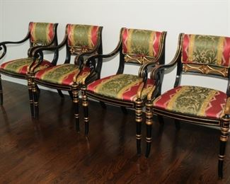4 OF 6 MATCHING ARM CHAIRS